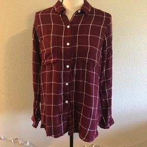 Maroon Checkered Flannel